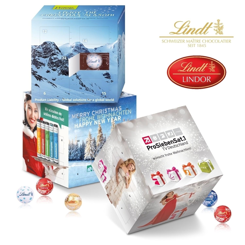 Lindor Weihnachtskalender.Adventskalender Cube Lindt