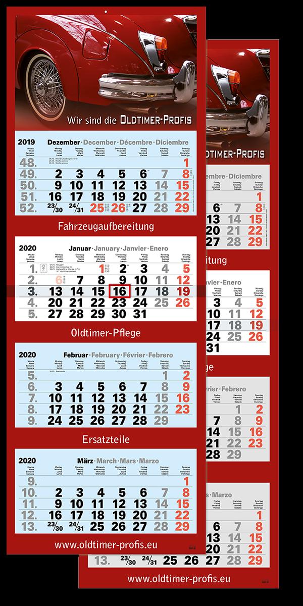 "4 Monatskalender ""Optimal 4"" 2021"