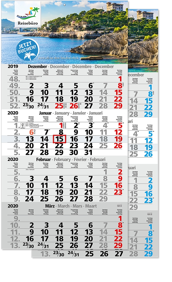 "4 Monatskalender ""Mega 4"" 2021"