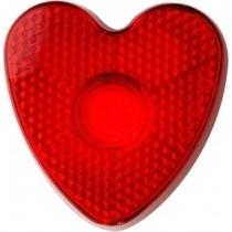 Blinkleuchte 'Heart' aus Kunststoff