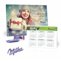 2 in 1 Adventskalender mit Jahresplaner milka