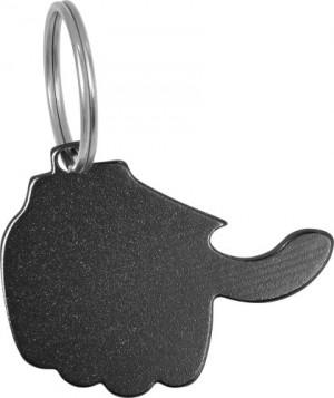 Schlüsselanhänger 'Thumb' mit Kapselheber aus Aluminium