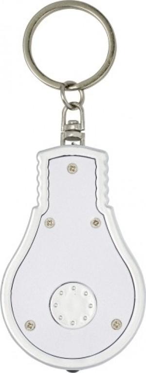 Schlüsselanhänger 'Disco' aus Kunststoff in Form einer Glühbirne