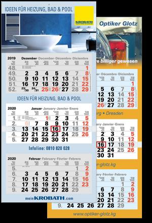 "3 Monatskalender ""Optimal 3"" 2021"