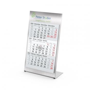 Tisch-Aufstellkalender Desktop 3 Steel bestseller, 1-Jahr