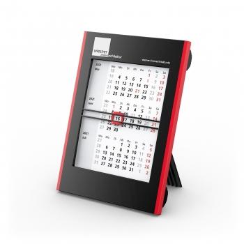 Tisch-Aufstellkalender Roll-Up 3 bestseller, schwarz-rot