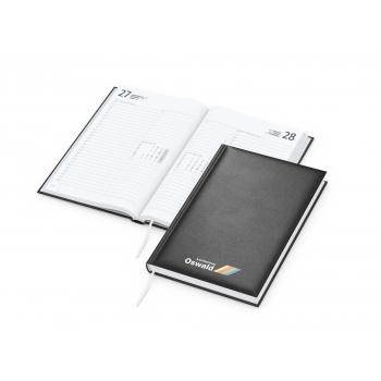 Buchkalender Image bestseller, Siebdruck-Digital, schwarz