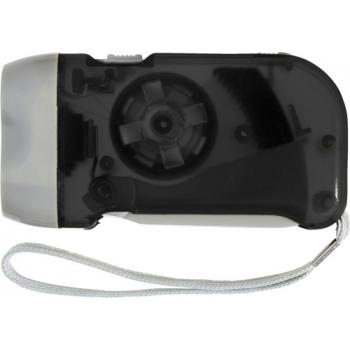 LED-Dynamotaschenlampe 'Mission' aus Kunststoff