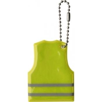 Schlüsselanhänger 'Warnweste' aus PVC