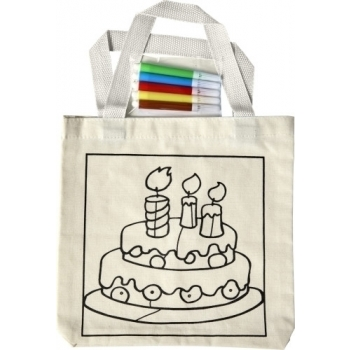 Einkaufstasche 'Cake' aus Baumwolle