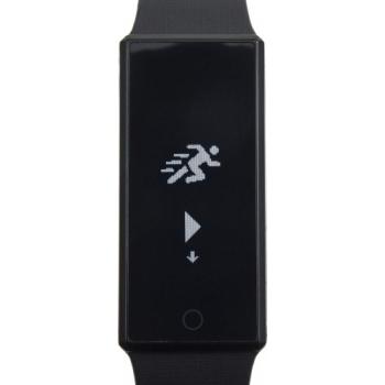Smartwatch 'Smarty' aus Edelstahl mit Silikonband