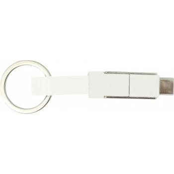 Ladekabel 'Nil' mit USB, USB-C, Lightning Anschluss aus Kunststoff