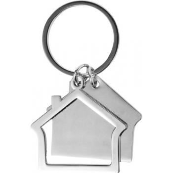 Schlüsselanhänger 'Home' aus Zink-Aluminium in Hausform