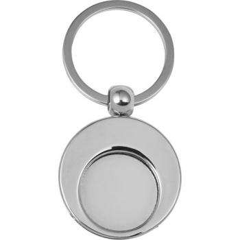 Schlüsselanhänger 'Shopping' aus Metall mit Einkaufswagenchip