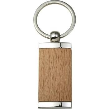 Schlüsselanhänger 'Drift' aus Metall & Holz