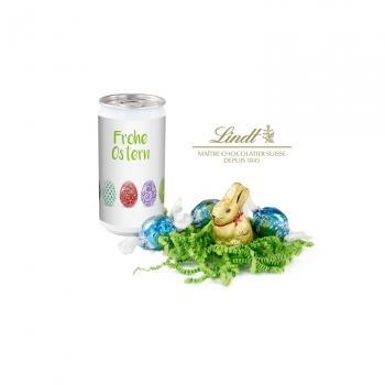 Geschenkartikel / Präsentartikel: Lindt-Oster-Überraschung - Etikett Frohe Ostern - EierReihe