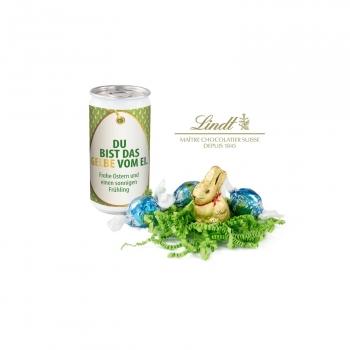 Geschenkartikel / Präsentartikel: Lindt-Oster-Überraschung - Etikett Du bist das Gelbe vom Ei