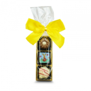 Geschenkartikel / Präsentartikel: 3er Pralinenstange Ostern