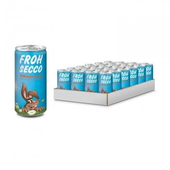 Geschenkartikel / Präsentartikel: Frohsecco Ostern - 24 x Promo Secco 0,2 l , Slimlinedose