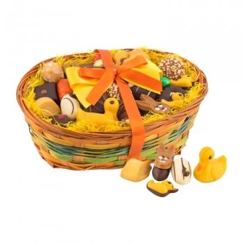 Geschenkartikel / Präsentartikel: Großer Osterkorb - Confiseriespezialitäten 800 g