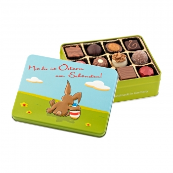 Geschenkartikel / Präsentartikel: Mit Dir ist Ostern am schönsten - Pralinen 150 g