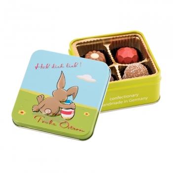 Geschenkartikel / Präsentartikel: Frohe Ostern - Hab dich lieb - Pralinen 50 g