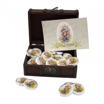 Geschenkartikel / Präsentartikel: Osterschatz mit 32 Vollmilch-Dublonen
