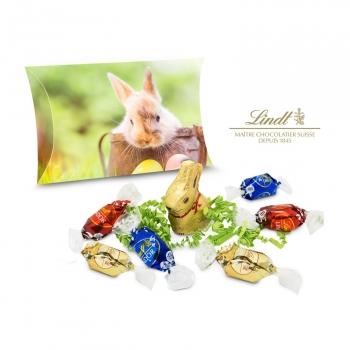 Geschenkartikel / Präsentartikel: Lindt Ostertasche, auch in individueller Kissenverpackung
