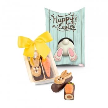 Geschenkartikel / Präsentartikel: Kleines Oster-Duo, auch in individueller Kissenverpackung