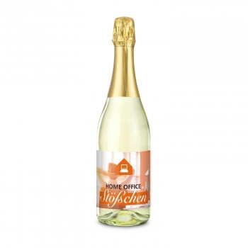 Home-Office Stößchen - Sparkling wine Cuvée - Bottle clear, 0.75 l