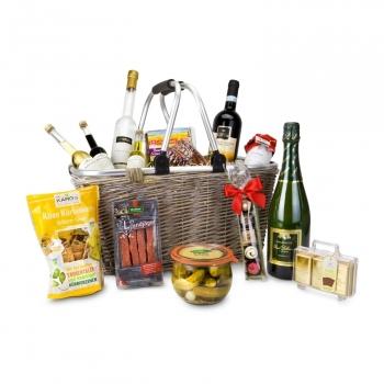Geschenkset / Präsenteset: Geschenkkorb XXL - Einkaufskorb mit 14 leckeren Produkten