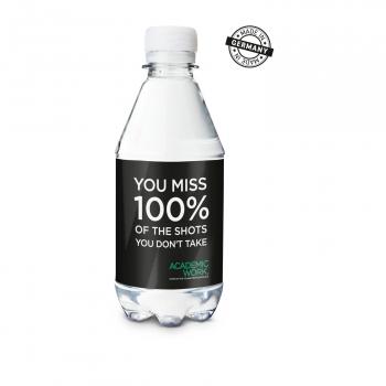 330 ml PromoWater - Mineralwasser, still - Eco Papier-Etikett