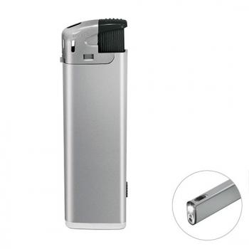Silber Elektronik-Feuerzeug mit LED