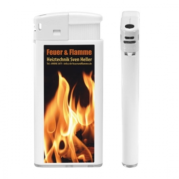 Elektronik-Feuerzeug flach - große Druckfläche