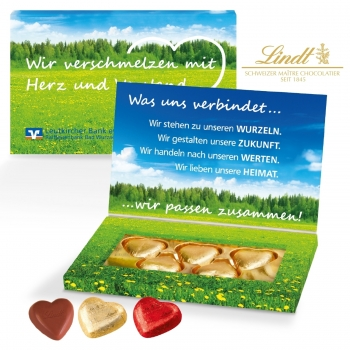 "Schokoherzen in Präsentbox ""Business lindt"