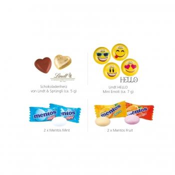 Werbebriefchen mit Lindt HELLO Mini Emoti lindt
