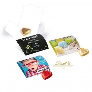 Werbebriefchen mit Schokoladenherzen von Lindt lindt