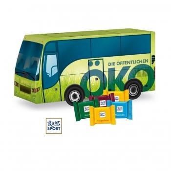 """3D Präsent """"Bus"""" mit Ritter SPORT Schokotäfelchen Ritter Sport"""