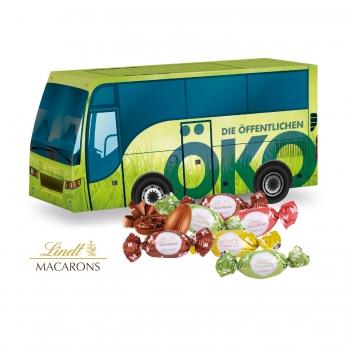 """3D Präsent """"Bus"""" mit Lindt Macarons Mischung lindt"""