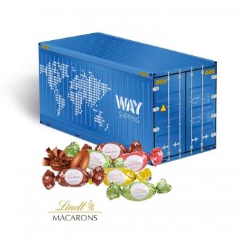 """3D Präsent """"Container"""" mit Lindt Macarons Mischung lindt"""