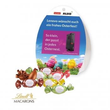 Werbe-Osterei mit Lindt Macarons Mischung lindt