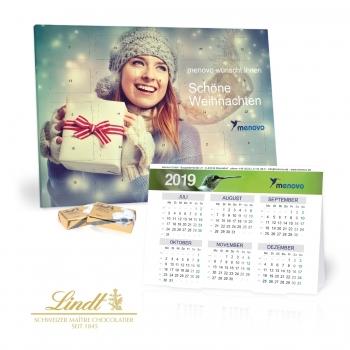 2 in 1 Adventskalender mit Jahresplaner lindt