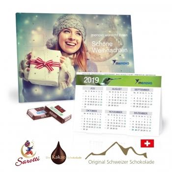 2 in 1 Adventskalender mit Jahresplaner sarotti