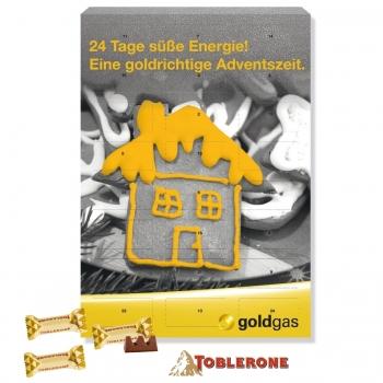 Wand-Adventskalender mit TOBLERONE toblerone