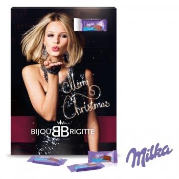 Wand-Adventskalender mit Milka Schokolade milka