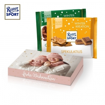 Ritter SPORT Winterkreation in Werbekartonage ritter