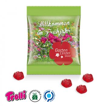 Trolli - Fruchtgummi Minitüte Sonderform 10g, kompostierbare Folie