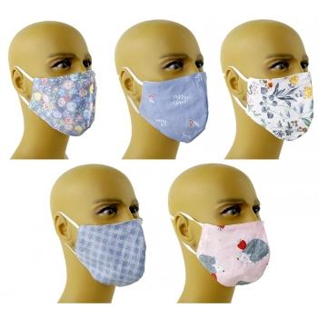 Maske aus Baumwolle, verschiedene Motive, einstellbar