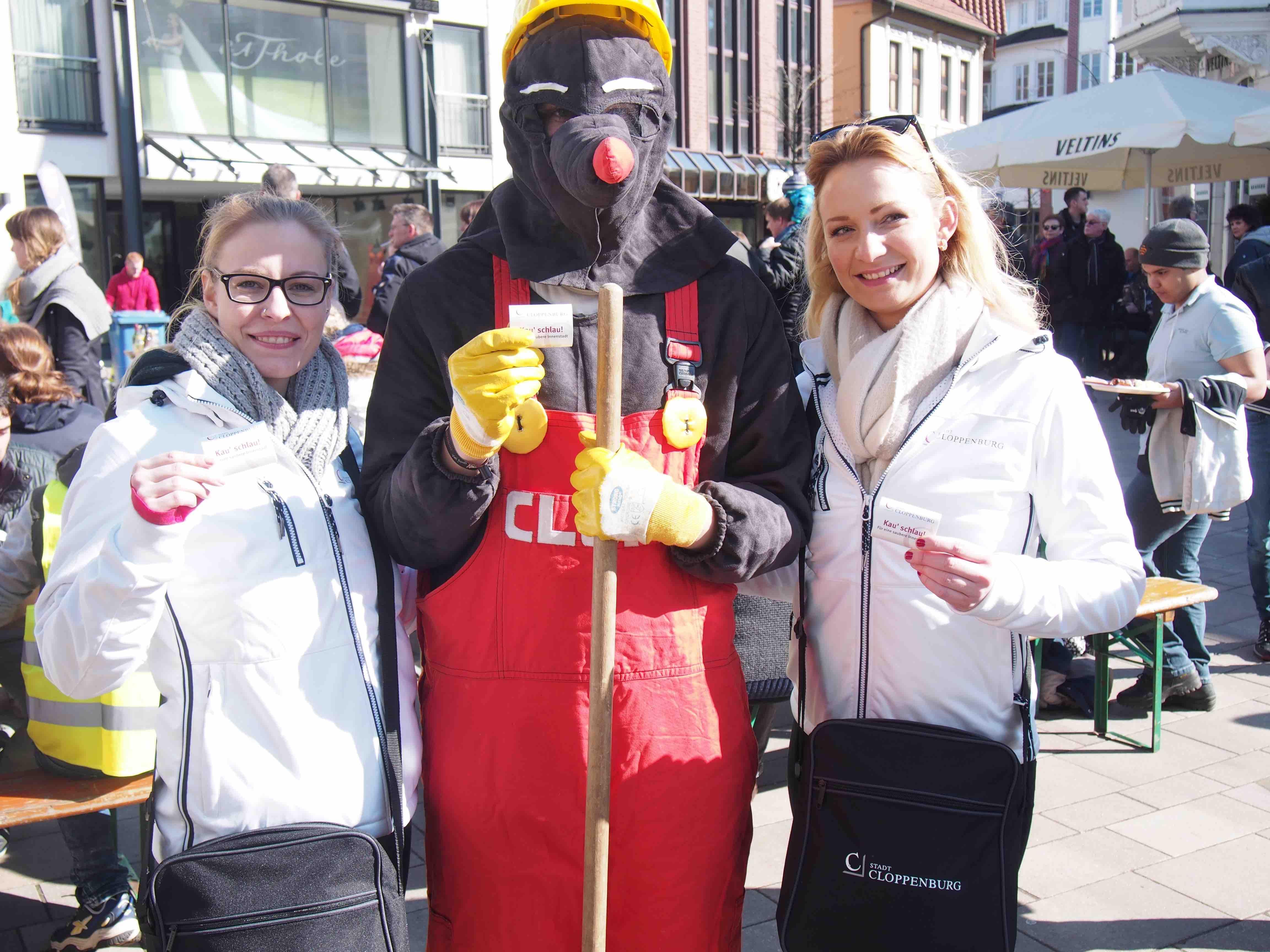Gegen Littering/Verschmutzung durch Kaugummis Stadt Cloppenburg Group