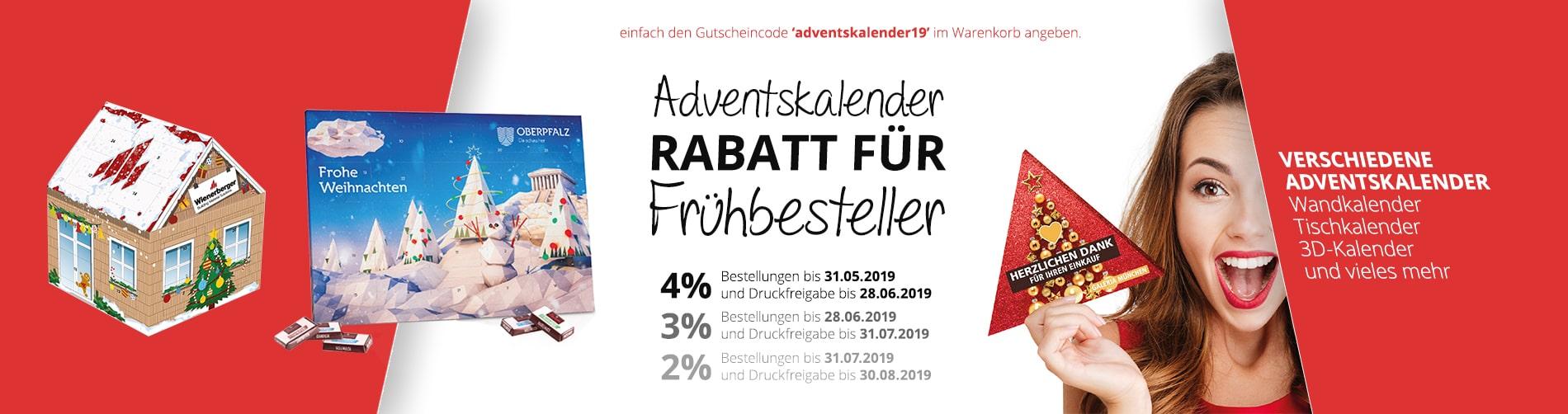 Bedruckte Werbeartikel von BizTune - bedruckte Adventskalender